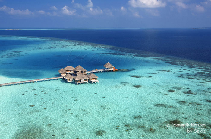 Huvafen Fushi Aerial View - The Spa
