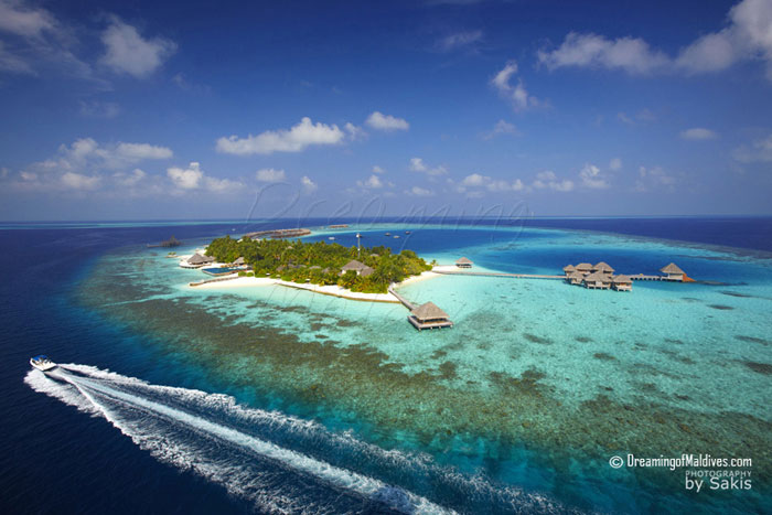 Huvafen Fushi Aerial View - The Resort