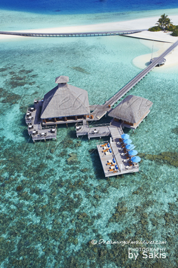 Huvafen Fushi Aerial View - RAW and SALT Over Restaurants
