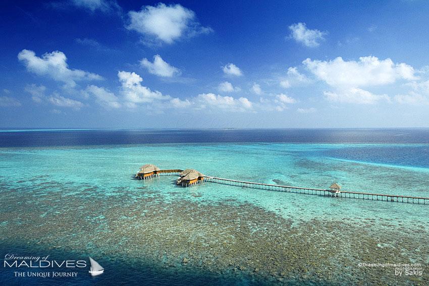 Huvafen Fushi Maldives Best Maldives Water Villa. Ocean Pavilion Aerial View