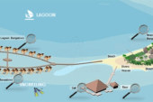 Huvafen Fushi Maldives Resort Map