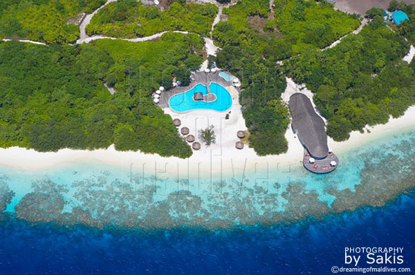 Aerial Photo Maldives Island Hideaway detail view gallery