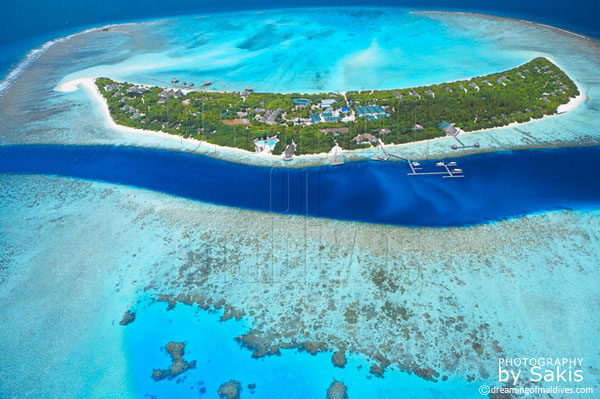 island hideaway maldives aerial view photo gallery