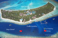 Where to snorkel and dive around Island Hideaway Maldives ?