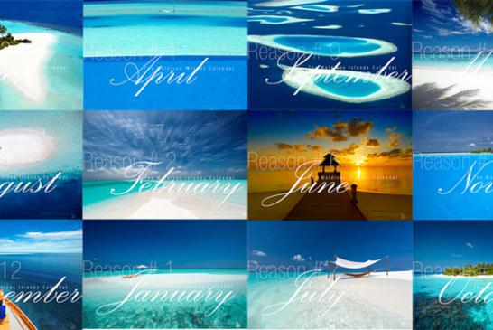 Sales ! Maldives Wall Calendar 2018