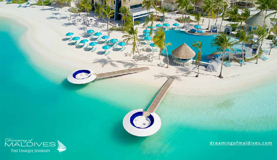 Kandima Maldives Resort Aerial View