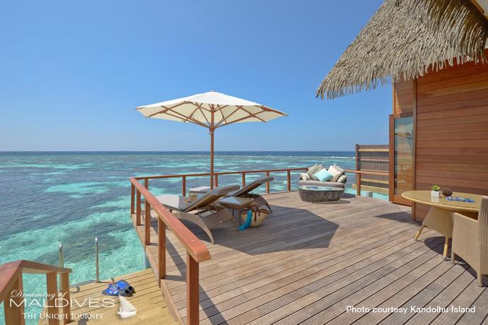Kandolhu best resort for snorkeling in Maldives.villa