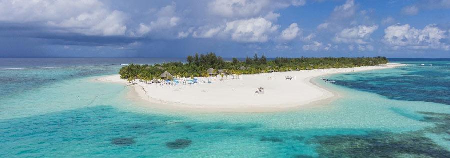 Kanuhura Maldives aerial view island resort