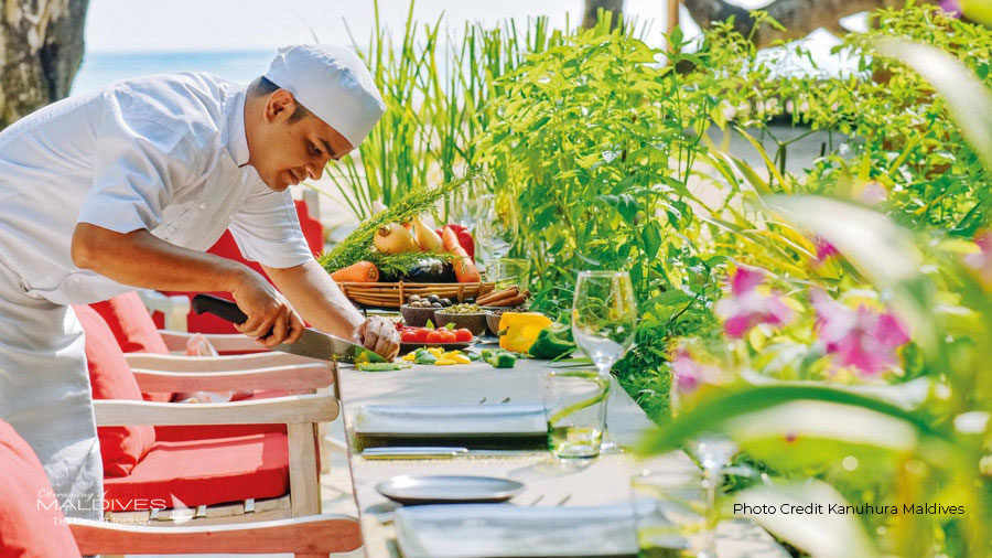 Kanuhura Chef's Herb Garden restaurant