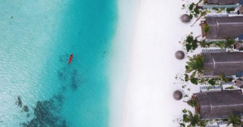 OZEN at Maadhoo Kayaking over the Blue Lagoon