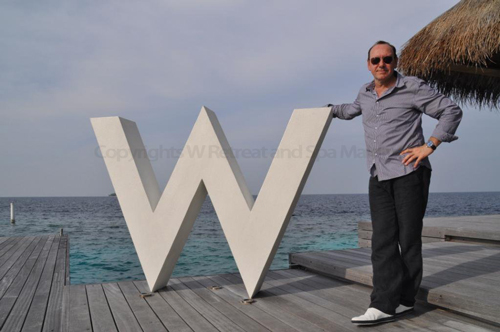 Kevin Spacey in Maldives at W Retreat and Spa