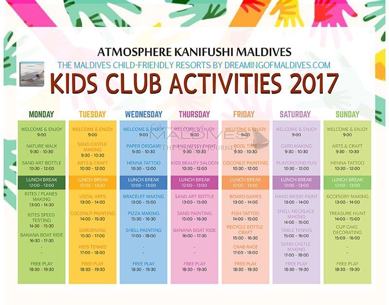 Kids Club Program atmosphere kanifushi Maldives