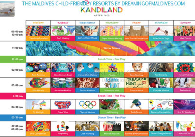 Kids Club Program kandima Maldives