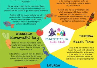 Kids Club Program Kuramathi Maldives