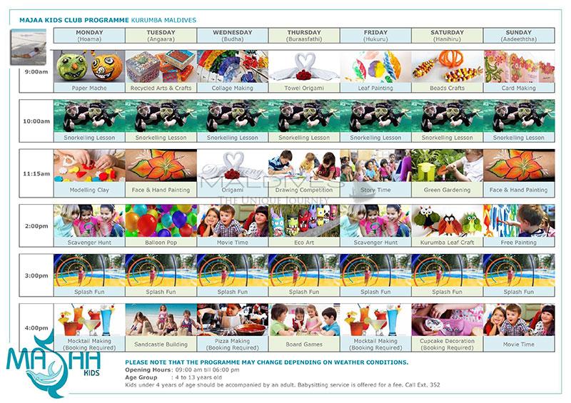 Kids Club Program kurumba Maldives