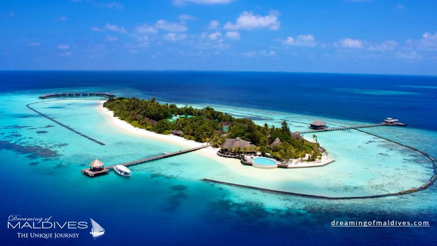 Komandoo Maldives Resort Aerial Photo