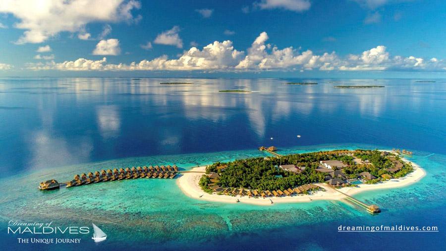 Kudafushi Maldives Resort Aerial Photo