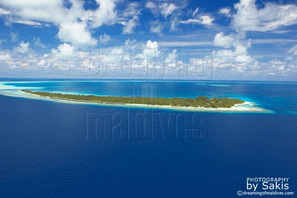 Kuramathi resort maldives aerial view photo gallery
