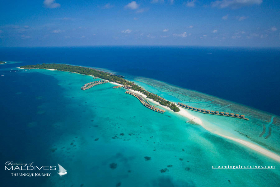 Kuramathi Maldives Resort Aerial Photo