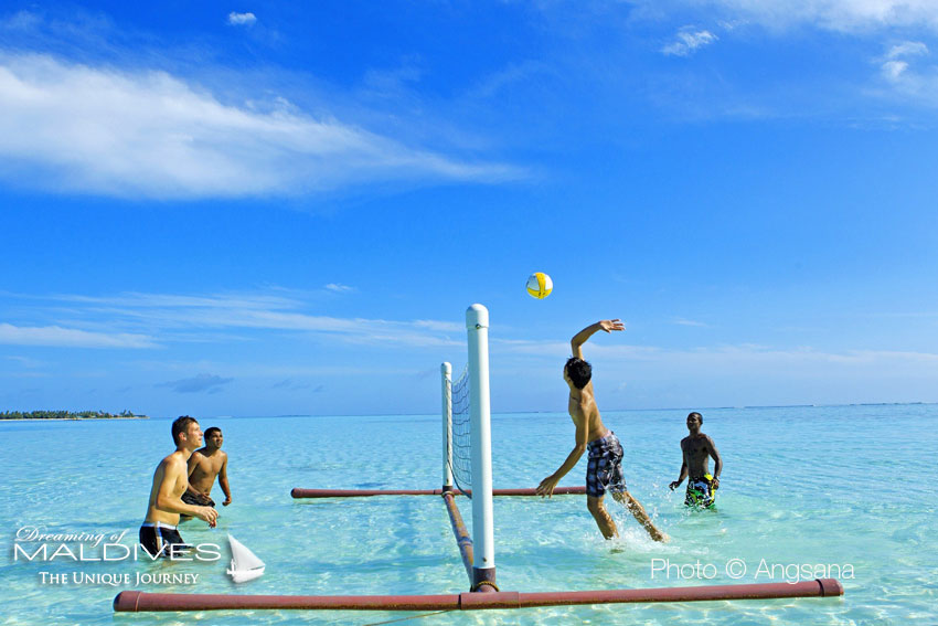Maldives Amazing Places The Volley Ball Field at Angsana Velavaru