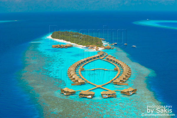 Lily Beach Maldives aerial view photo gallery