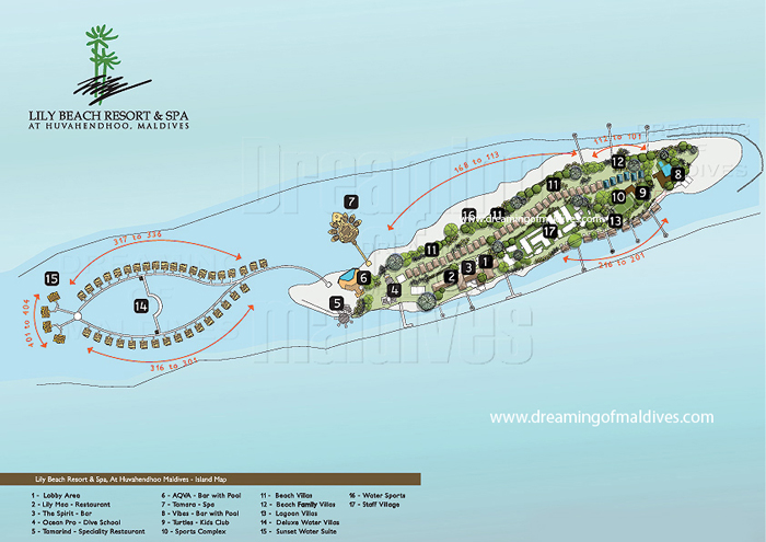 Lily Beach Maldives Resort Map