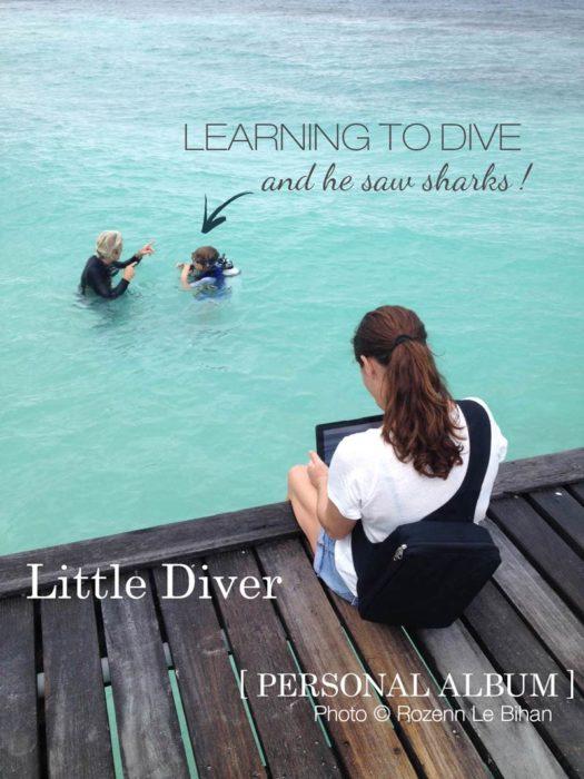 Diving lesson kids maldives