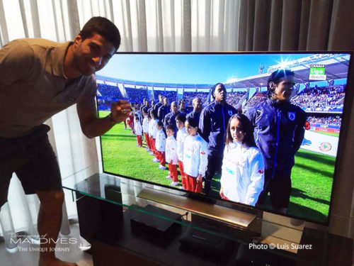 Luix Suarez took a photo in his Luxury Villa in Maldives
