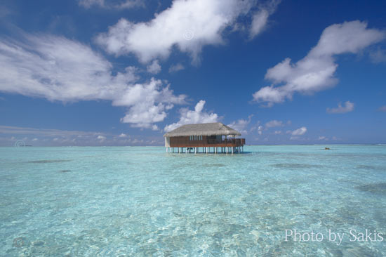 Luxury lagoon water villa Maldives