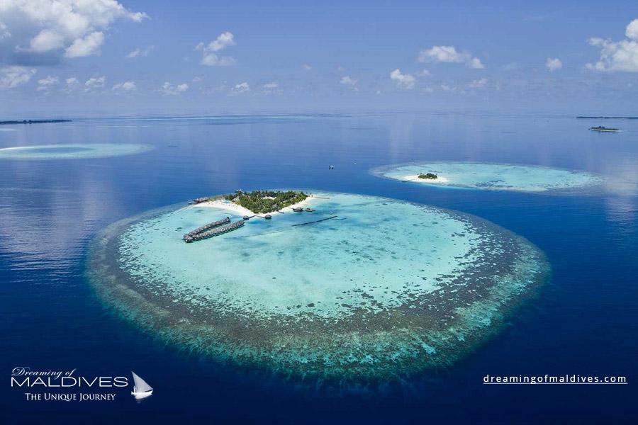 Maafushivaru Maldives Resort Aerial Photo
