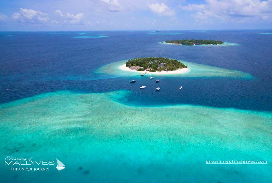 Malahini Kuda Bandos Maldives Resort Aerial Photo