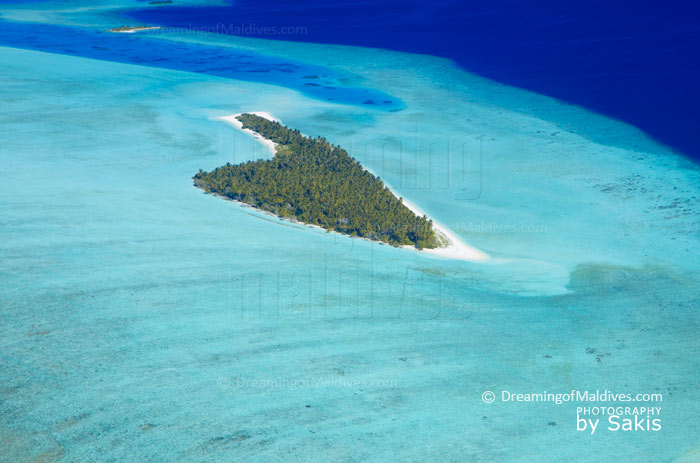 Maldives photo of the day. Aerial Photo of a small paradisiacal Island