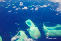 Aerial Photo of the Maldives, this morning…