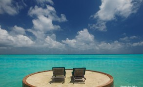 View from a Beach Villa with private deck at Anantara Dhigu Maldives