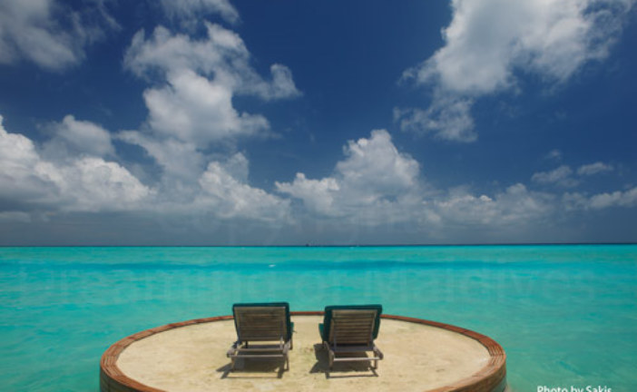View from a Beach Villa with private deck at Anantara Dhigu Maldives