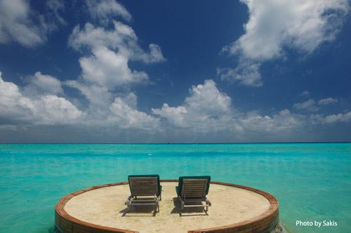 Maldives beach Villa with lagoon view