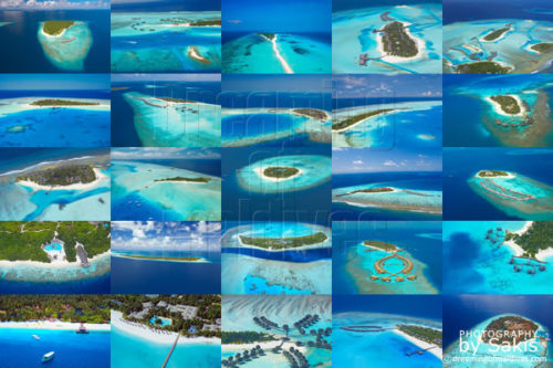Maldives Photo Gallery of some of the most beautiful Resort Islands of Maldives (25 Aerial Views of Maldives Island Resorts)