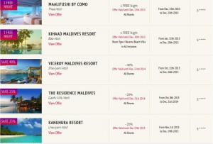 Find the latest Maldives Deals on selected Hotels and Resorts