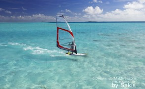 Windsurfing, Funboarding, Kitesurfing in Maldives…all pleasures allowed !