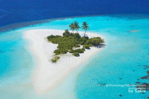 Dreamy Island....Aerial View. Maldives