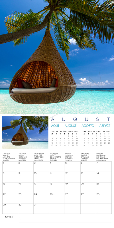 Calendar 2016 Islands | Calendar Template 2016