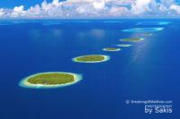 Maldives Islands Aerial Photography. Baa Atoll Island