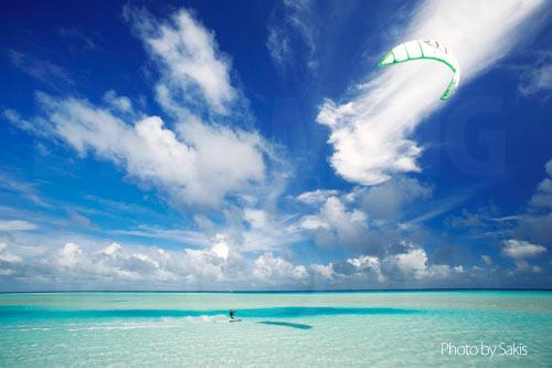 Maldives kitesurfing