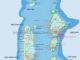 Maldives Map 4 from Baa Atoll to Vaavu + Faafu Atoll