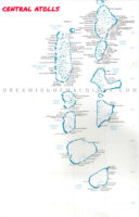 maldives map atolls. Central Atolls with Resorts
