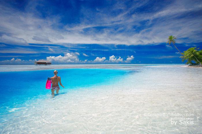 Paradise Beach Maldives Islands