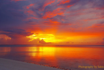 Photo of the day Red sunset in Maldives