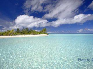 Maldives photo of desert tropical island at Haddumatti Atoll