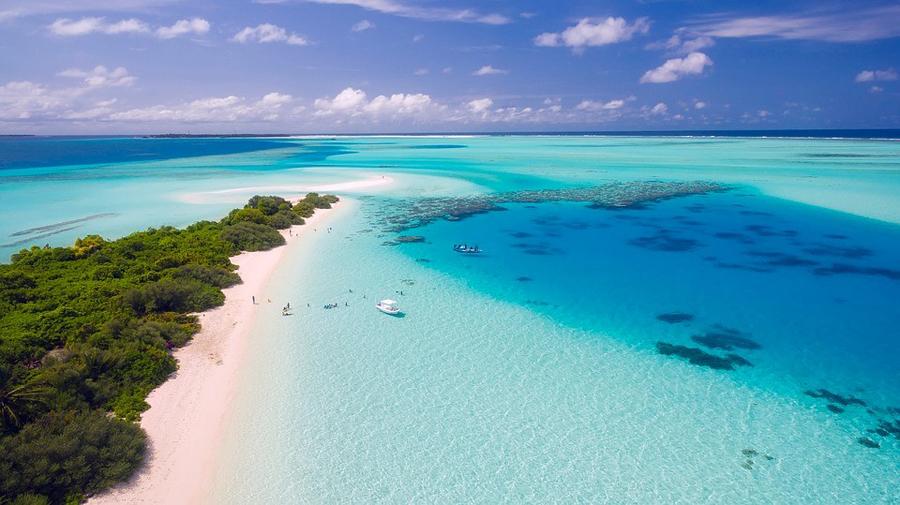 Aerial Photos of Maldives resorts Islands
