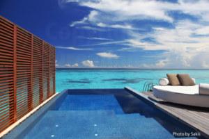 Maldives Resort   Water Villa with a lagoon View at W-Retreat Maldives